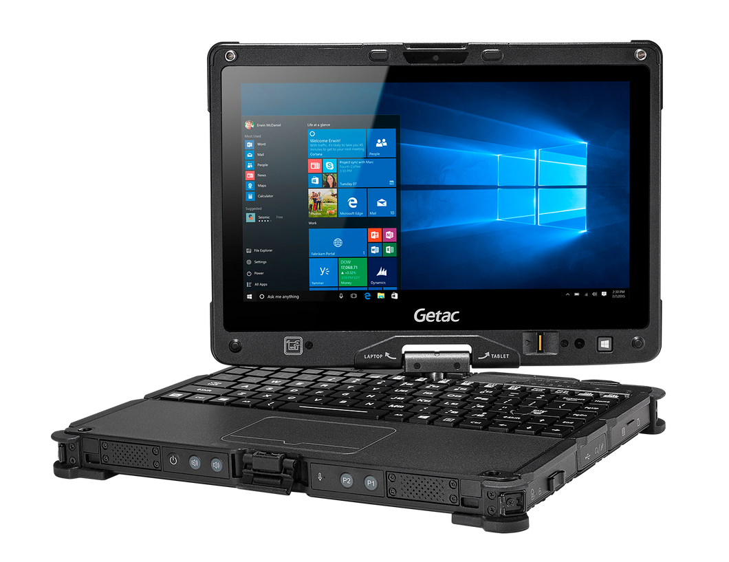 Getac V110 Fully Rugged Convertible Laptop / Tablet PC intel core i5 12GB RAM 1TB m2.SSD Windows10PRO Dualcamera MS Office 2019