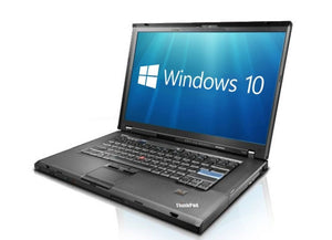 "LENOVO THINKPAD 15.4"" LAPTOP 8GB RAM 256GB SSD Windows 10 Pro & office Wifi DVD"