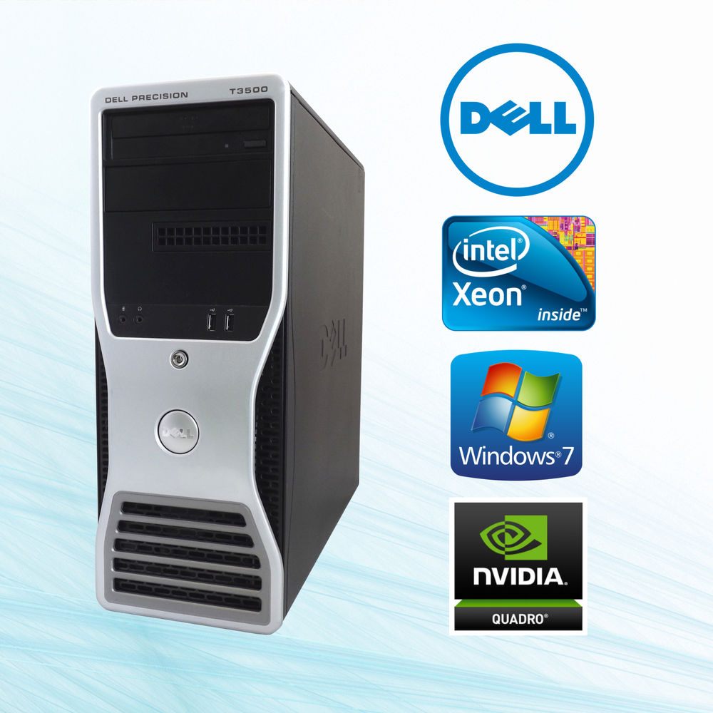 Dell Precision T3500 WorkStation Intel Xeon Quad Core 3.06GHz W3550 12GB RAM HardDrive 1TB & 300GB NvidiaVideo Win7