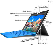Load image into Gallery viewer, SUPER SALE: Microsoft Surface Pro 12.3 Multitouch Tablet intel i5 128GB DualCamera w Keyboard Windows10 Pro Microsoft Office 2019