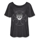 Skull Corrupted - charcoal gray
