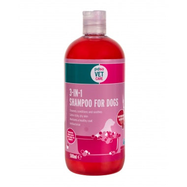 PDSA 3-in-1 Raspberry Shampoo for Dogs - Targa Pet Shop