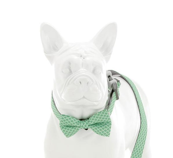 Green Geometric Bow Tie - Targa Pet Shop