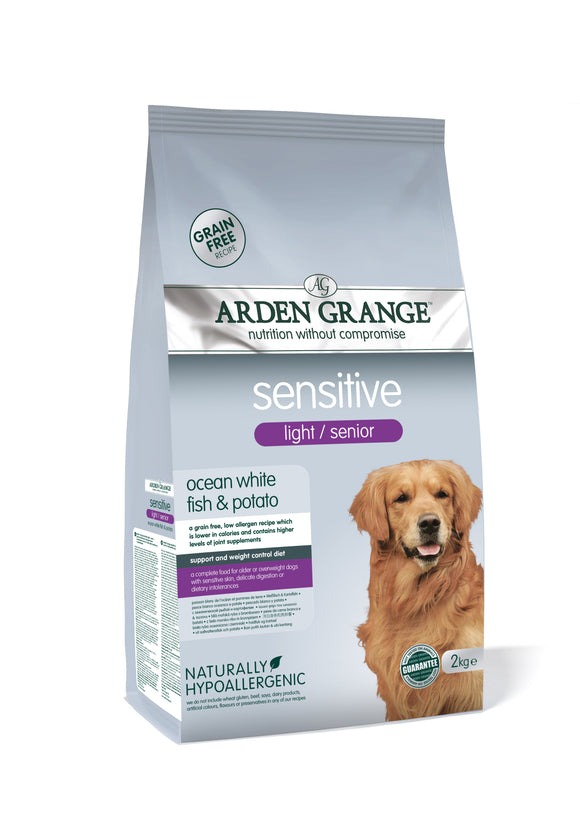Arden Grange Sensitive Light / Senior - grain free - ocean white fish & potato - Targa Pet Shop