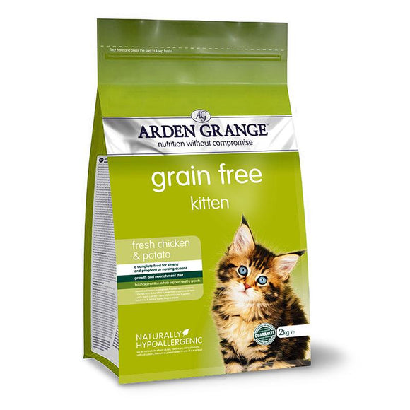 Arden Grange Kitten - Grain Free - (With Fresh Chicken & Potato) - Targa Pet Shop
