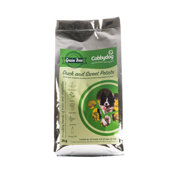 Cobbydog Grain Free Duck & Sweet Patato - Targa Pet Shop