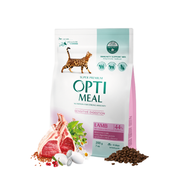 OPTIMEAL Adult Cat Sensitive with Lamb