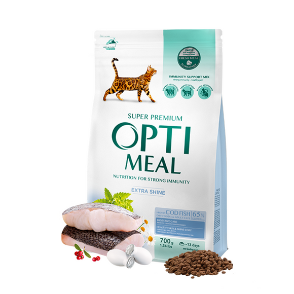 OPTIMEAL Adult Cat with Cod Fish