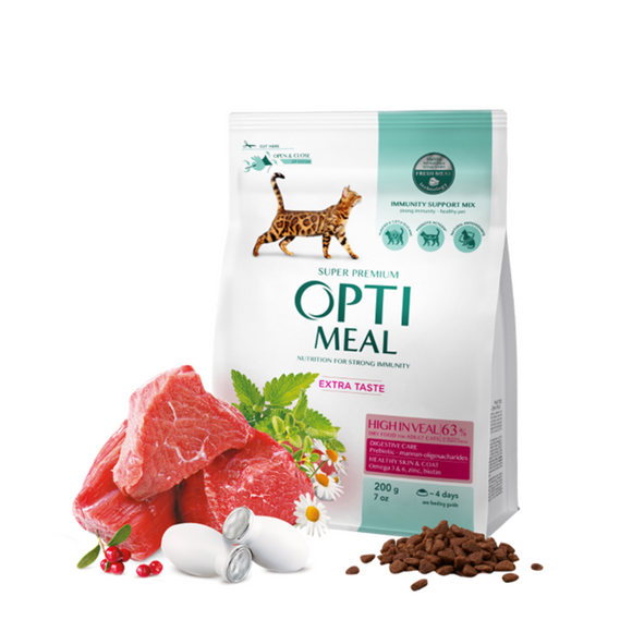 OPTIMEAL Dry Adult Cat Veal