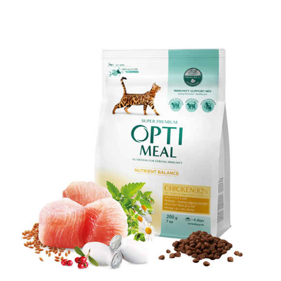 OPTIMEAL Dry Adult Cat with Chicken