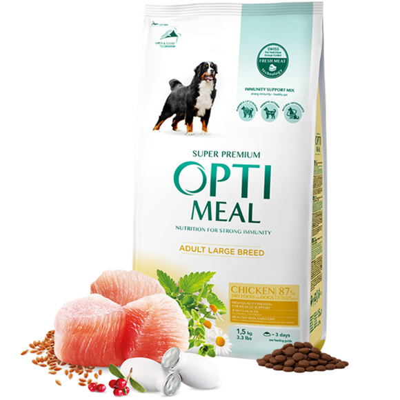 OPTIMEAL Dry dog food for Large Breeds with Chicken