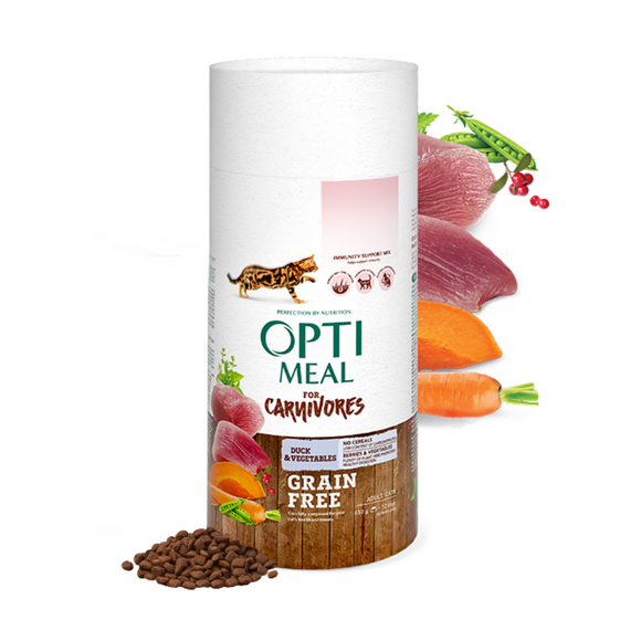 OPTIMEAL Grainfree Adult Cat with Duck & Veggies
