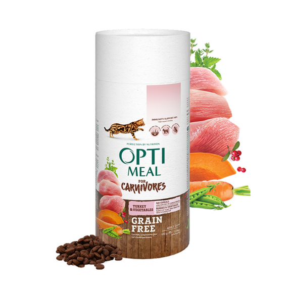 OPTIMEAL Grainfree Adult Cat with Turkey & Veggies
