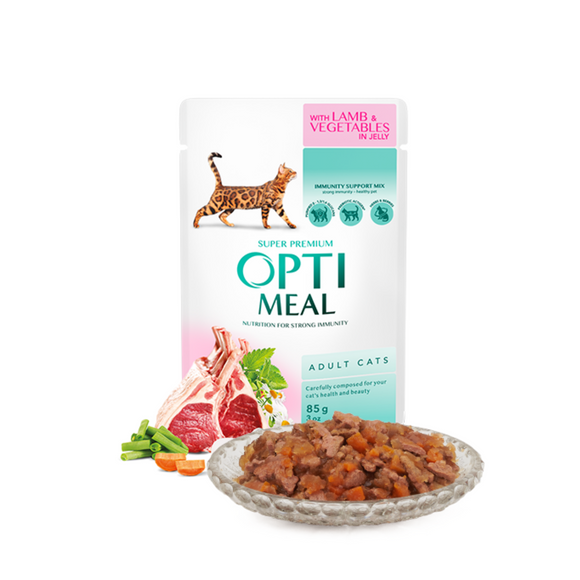 OPTIMEAL Pouches with Lamb & Veggies in Jelly