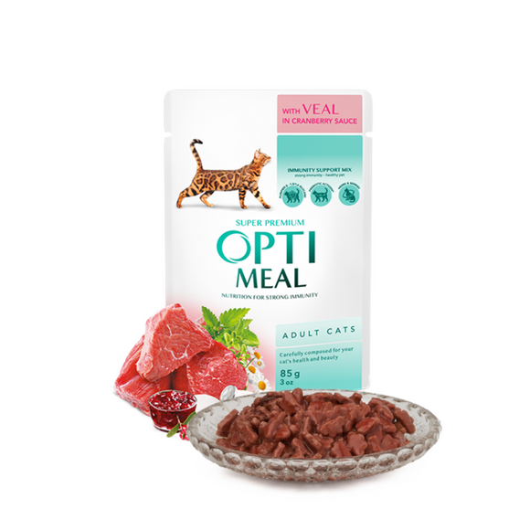 OPTIMEAL Pouches with Veal in Cranberry Sauce