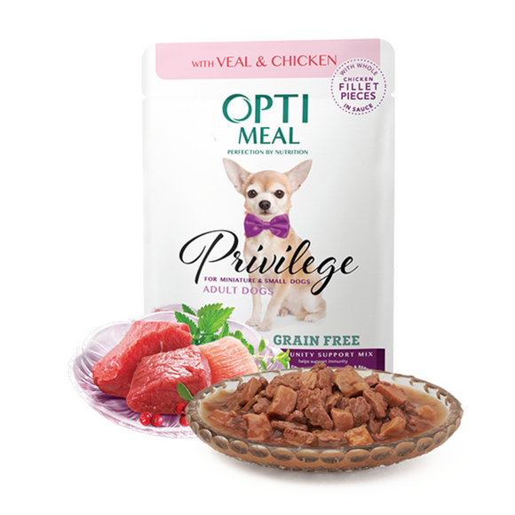 OPTIMEAL Privilege Pouches Veal & Chicken