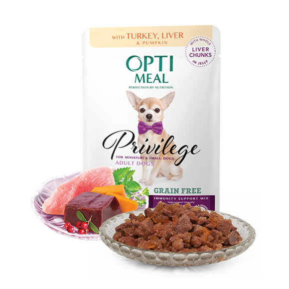 OPTIMEAL Privilege Pouches Turkey and Liver in Pumpkin jelly