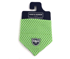Green Geometric Bandanna - Targa Pet Shop