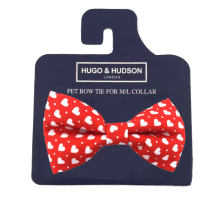 Red Love Heart Bow Tie - Targa Pet Shop