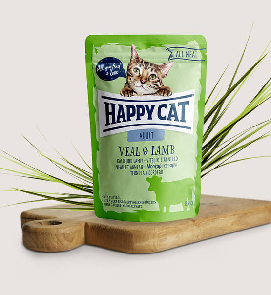 Happy Cat All Meat Adult Veal & Lamb - Targa Pet Shop
