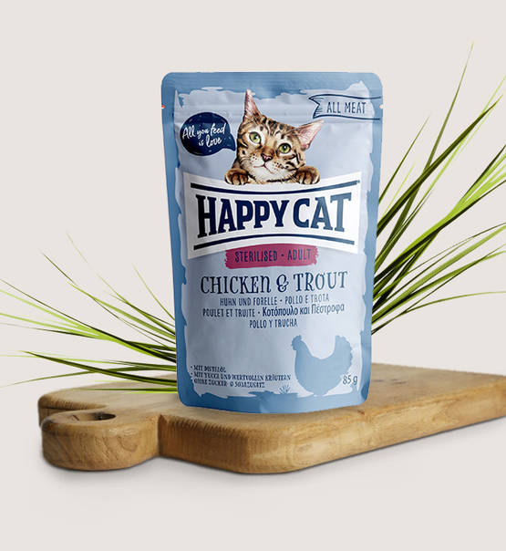 Happy Cat All Meat Adult Sterilised Chicken & Trout - Targa Pet Shop