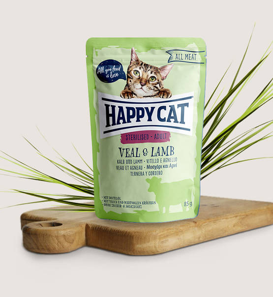 Happy Cat All Meat Adult Sterilised Veal & Lamb - Targa Pet Shop
