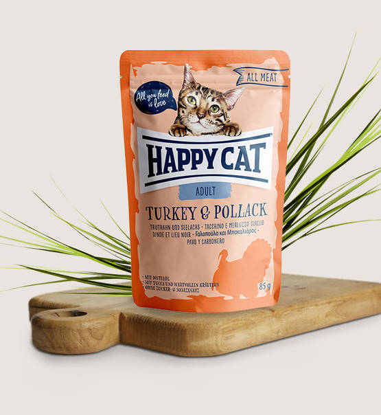 Happy Cat All Meat Adult Turkey & Pollack - Targa Pet Shop