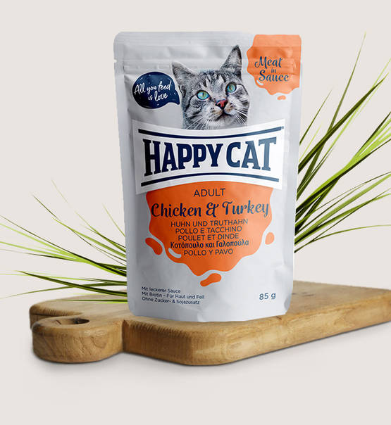Happy Cat Meat in Sauce Adult Chicken & Turkey - Targa Pet Shop