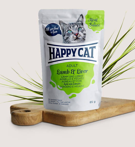 Happy Cat Meat in Sauce Adult Lamb & Liver - Targa Pet Shop