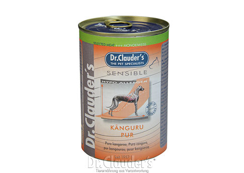 Dr. Clauder's Selected Meat Sensible: Pure Kangaroo - Targa Pet Shop