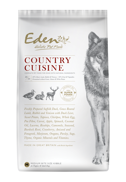 EDEN 80/20 COUNTRY CUISINE GAME WITH LAMB DOG FOOD - Targa Pet Shop