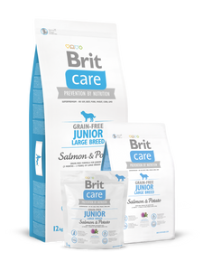 Brit Care Grain-Free Junior Large Breed Salmon & Potato - Targa Pet Shop