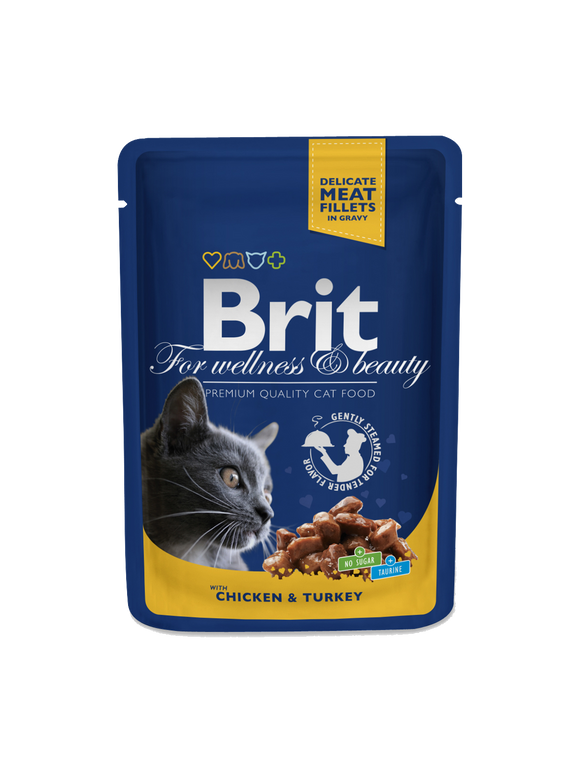 Brit Premium Cat Pouches with Chicken & Turkey - Targa Pet Shop