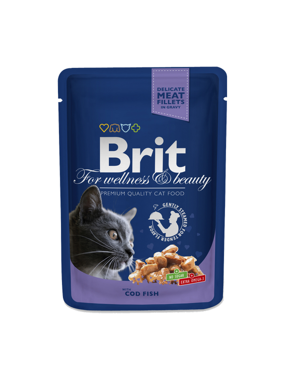Brit Premium Cat Pouches with Cod Fish - Targa Pet Shop