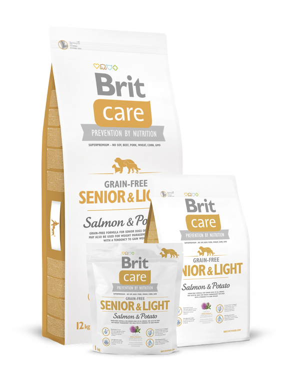 Brit Care Grain-Free Senior&Light Salmon & Potato - Targa Pet Shop
