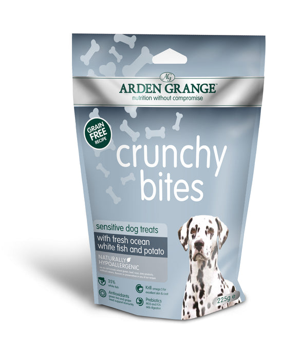 Arden Grange Crunchy Bites Sensitive – Grain Free – Ocean White Fish and Potato - Targa Pet Shop