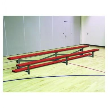 21' Powder Coated Tip Roll Bleacher (2-Row)