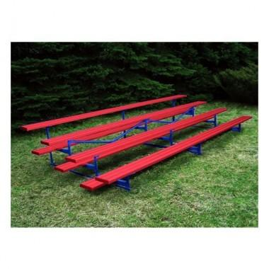 15' Bleacher With Steel Understructure (4-Row)