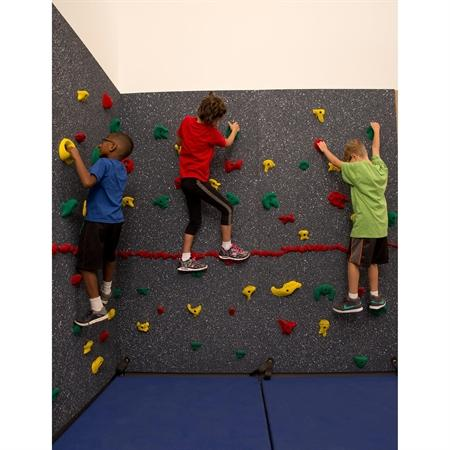 Everlast Climbing Magna Traversewall 8' X 40' Package With Cordless Matlocking System