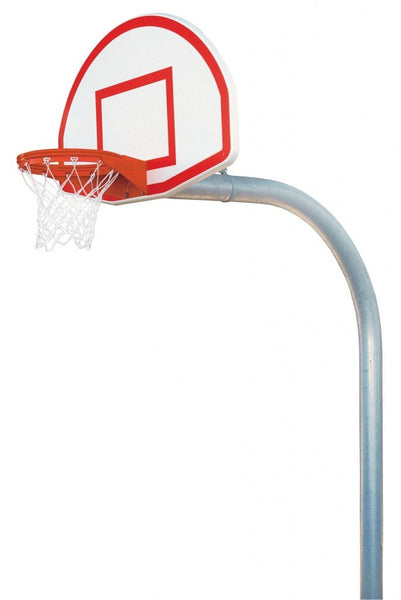 "5 9/16"" Mega Duty Finished Aluminum Fan Playground Basketball System"