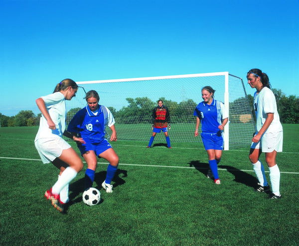 "24' x 8' Competition 4"" Round Portable Aluminum Soccer Goals"