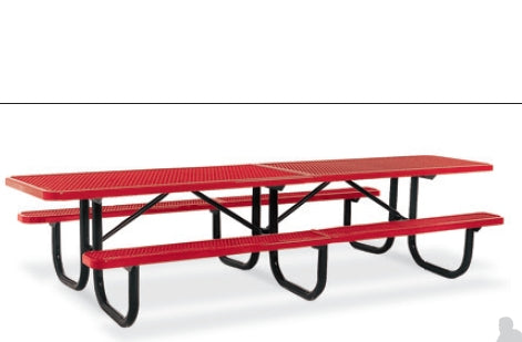 10 Feet Ada Extra Heavy Duty Shelter Table, (4 Legs / 4 Seats), Diamond