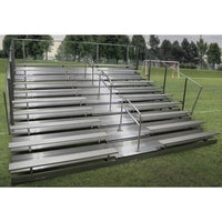 10-Row Stationary Aluminum Bleacher With Aisle 21 Ft