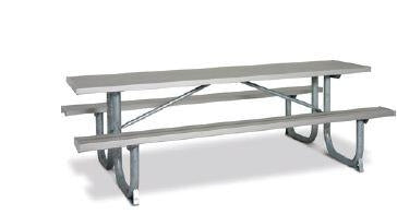 12 Feet Extra Heavy Duty Ada Shelter Table Table (3 Legs), Aluminum