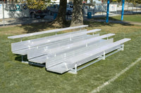 "15 Feet 3 Tier Outdoor ""xl"" All Aluminum Weatherbeater Bleacher"
