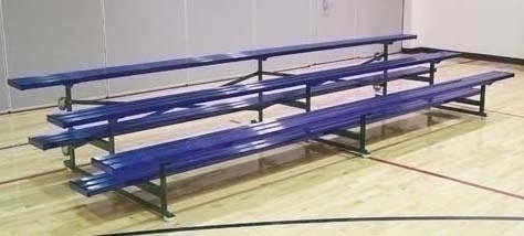 15' Powder Coated Tip Roll Bleacher (3-Row)
