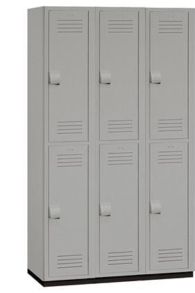 "15"" Wide Double Tier Heavy Duty Plastic Locker - 15-42368GRY"