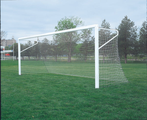18.5' X 6.5' Aluminum Permanent/Semi-Permanent In-Ground Soccer Goals