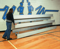 21 Feet 3 Tier Indoor All Aluminum Easy Store Bleacher