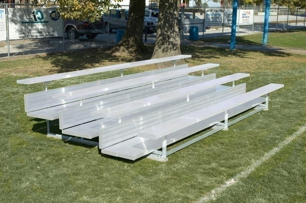"21 Feet 3 Tier Outdoor ""xl"" All Aluminum Weatherbeater Bleacher"